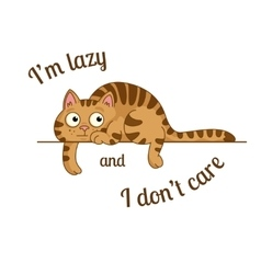 lazy cat vector image