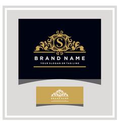Letter s logo design concept royal luxury gold vector