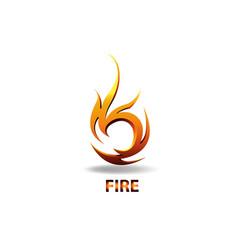 logo element symbol fire vector image
