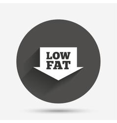 Low fat sign icon Salt sugar food symbol vector image