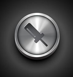 Metallic screw icon vector