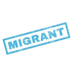 Migrant Rubber Stamp vector