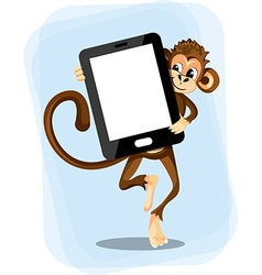 monkey with a smartphone vector image