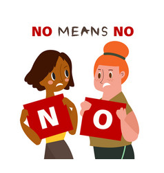 no means concept vector image