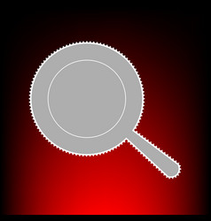 Pan style on red vector