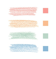Pastel chalks vector