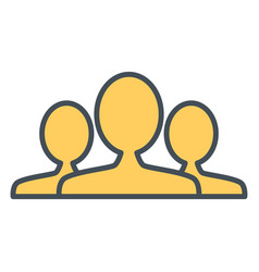 people group team line icon outline sign vector image
