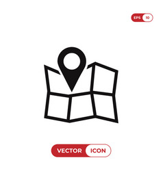 pin on map icon vector image