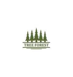 Pine forest outdoor logo mountain and adventure vector