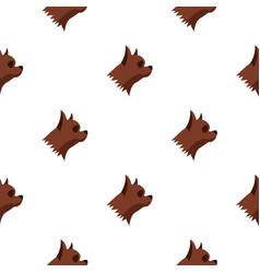 Pinscher dog pattern seamless vector
