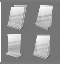 realistic business information transparent vector image