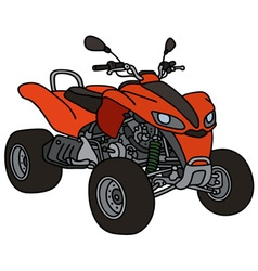 Red all terrain vehicle vector image