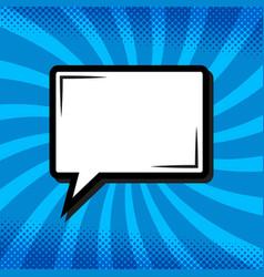 retro thinking speech bubble in pop art comic vector image
