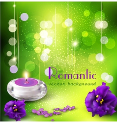 Romantic background with violets vector