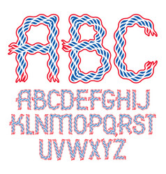 Set bold capital alphabet letters isolated vector