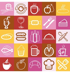 set of food and cafe logos and signs vector image