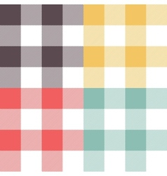 Set of four colored patterns vector