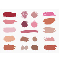 Set swatches makeup strokes vector