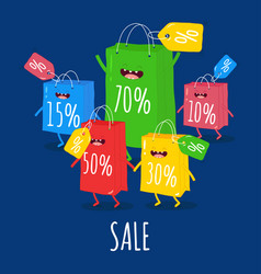 Shopper bag sale animated bags offer discounts vector