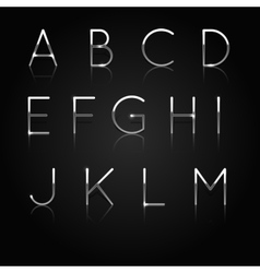 Silver alphabet Set of silver letters isolated on vector image