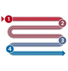Start-finish path vector