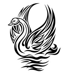 swan bird vector image