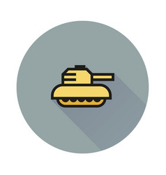 tank icon on white background vector image