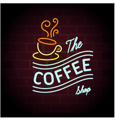 the coffee shop coffee cup black background vector image