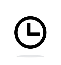 Time and Clock icon on white background vector image