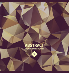 Triangle abstract background brown color vector