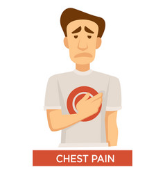tuberculosis symptom chest pain lungs disease vector image