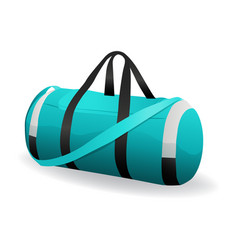 turquoise sport bag for sportswear and equipment vector image
