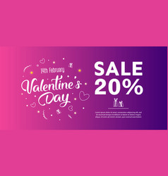 valentines day sale banner template design vector image