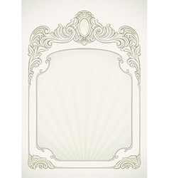 Victorian styled label background vector image