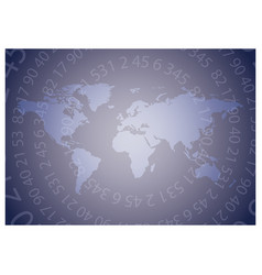 Violet background with map of the world vector