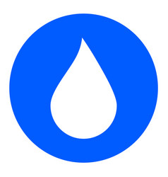 water drop button water drop icon vector image