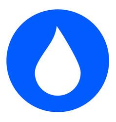 water drop button water drop icon vector image