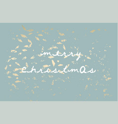 Winter abstract foliage grey blue gold background vector