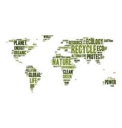 World map made of eco words vector