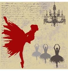 ballerina background vector image vector image