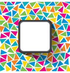 creative triangle pattern with square label banner vector image