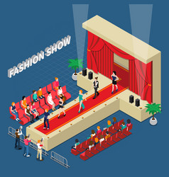fashion show isometric composition vector image vector image