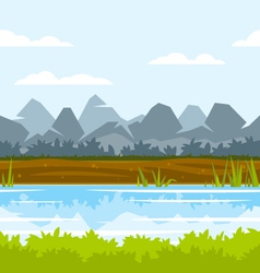 Mountain Game Background vector image vector image