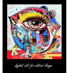 original contemporary digital painting bird vector image