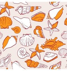 sea seamless pattern vector image vector image