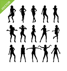 Sexy women adn dancing silhouettes vector image vector image