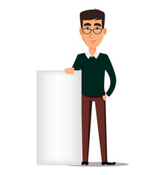 young handsome smiling businessman in smart vector image vector image