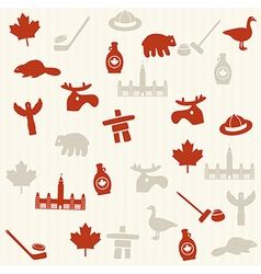 Canadian seamless pattern vector