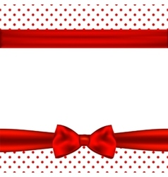 Holiday background with red ribbon and bow vector image vector image