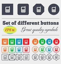 mobile phone icon sign Big set of colorful diverse vector image